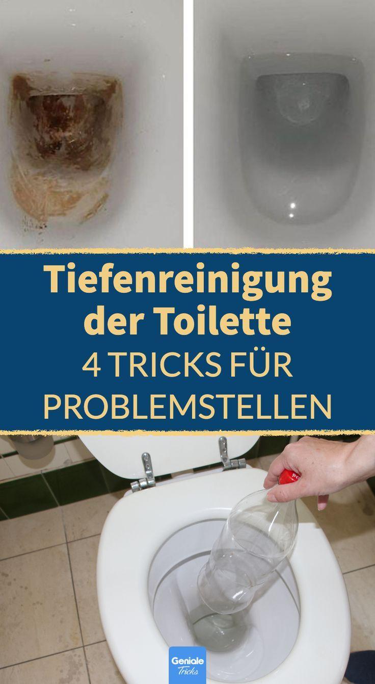 Toilette reinigen mit Hausmitteln: 4 Tricks für Problemfälle