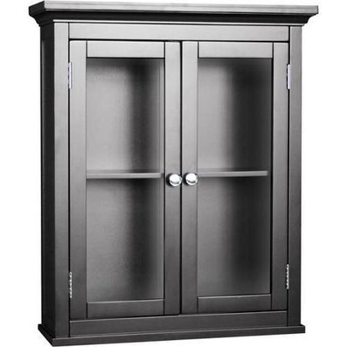 black bathroom wall cabinet toilet storage cabinet 17382