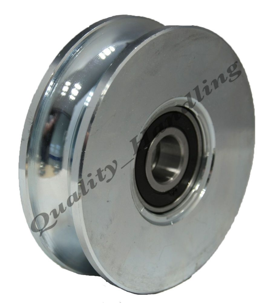 100mm Round Groove Gate Wheel Double Bearing Pulley Wheel 98x24mm Steel Wheel With Round Groove 20mm Radius For Sale I Gate Wheel Steel Wheels Pulley