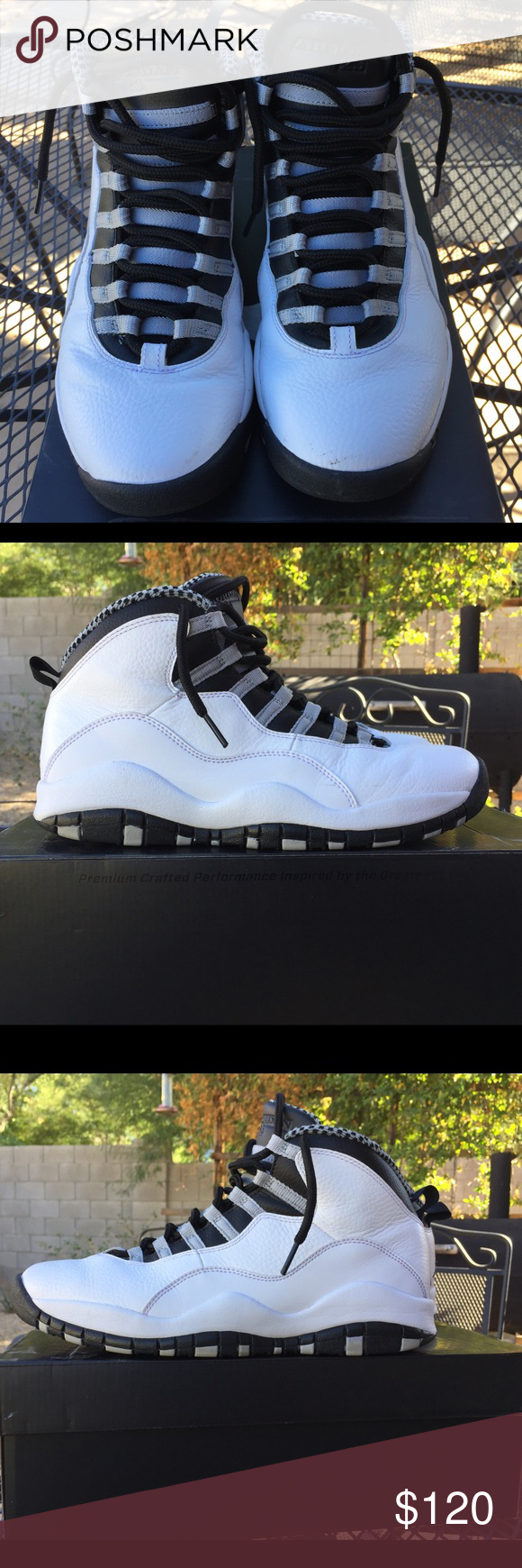 Jordan Steel 10's SOLD Size 9 Used but in good condition  Comes with the box  Asking $120 obo Jordan Shoes Athletic Shoes