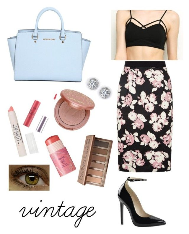 """""""VINTAGE"""" by madiwalker ❤ liked on Polyvore featuring MICHAEL Michael Kors, Topshop, tarte, Urban Decay and vintage"""