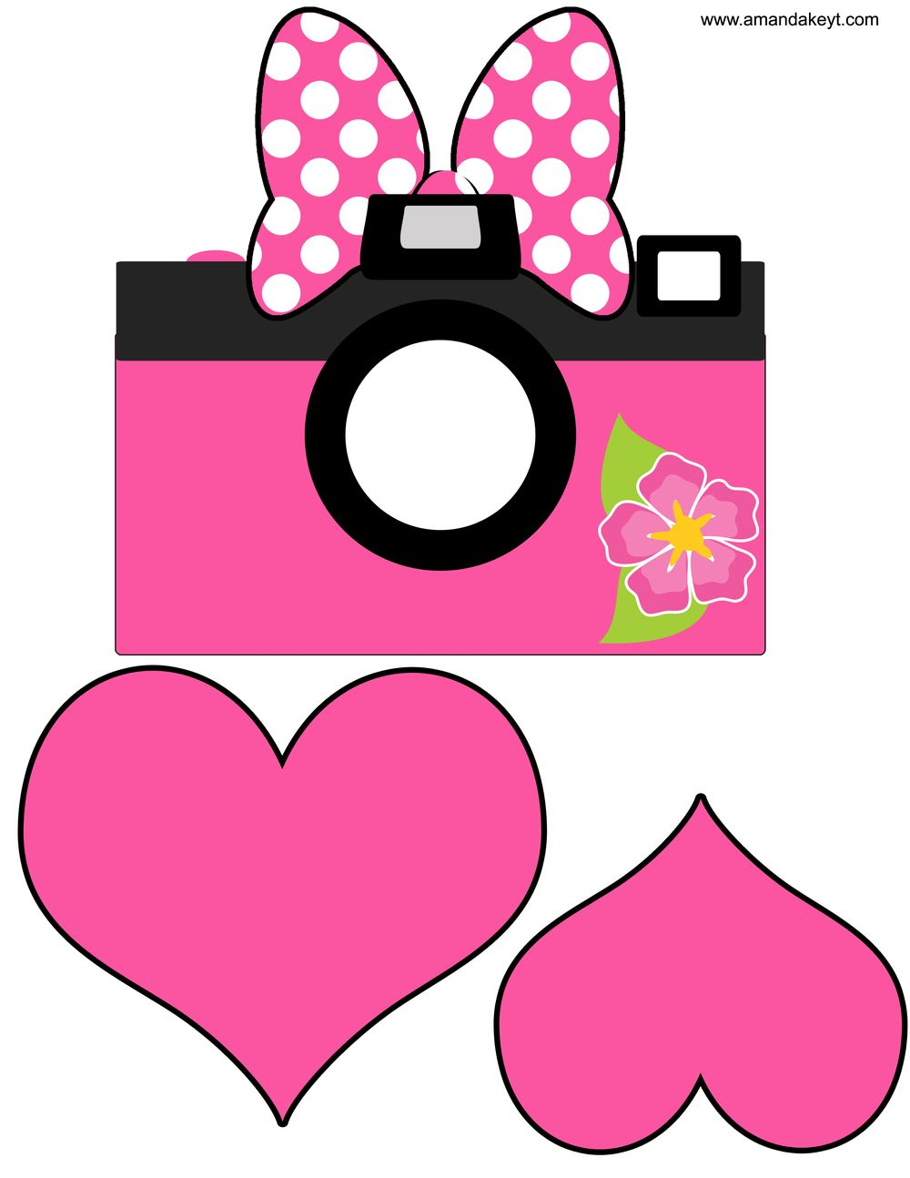 photo relating to Minnie Mouse Photo Booth Props Printable titled Hearts In opposition to Minnie S Luau Influenced Printable Photograph Booth