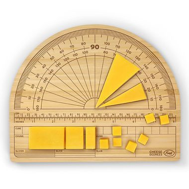 Be the architect of your own get together with our Cheese Degrees Cutting Board!  Our engraved bamboo cutting board, designed to look like a giant protractor, is acute hostess gift guaranteed to make any dull party do a complete 180!