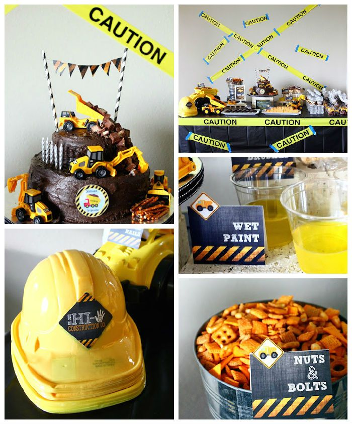 Construction Themed Fifth Birthday Party #50thbirthdaypartydecorations