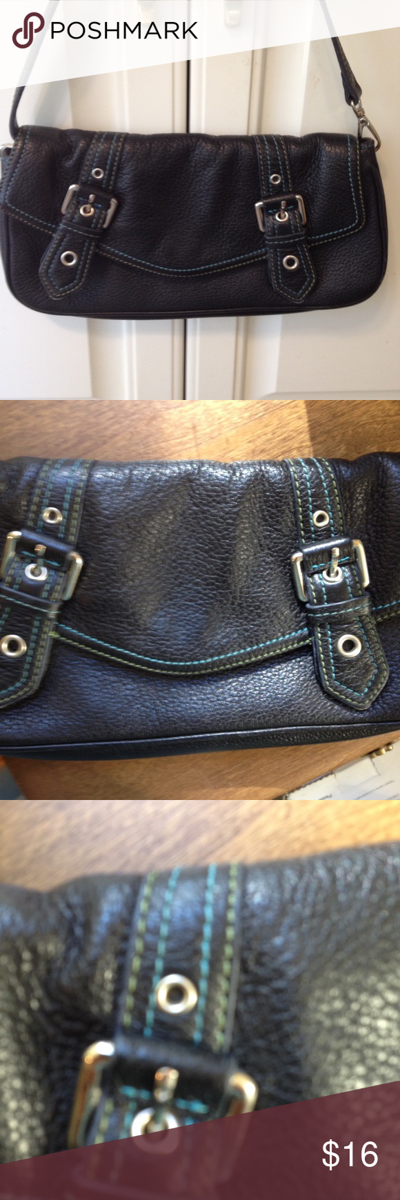 Wilson's Genuine Pebbled Leather Bag Wilsons leather bag