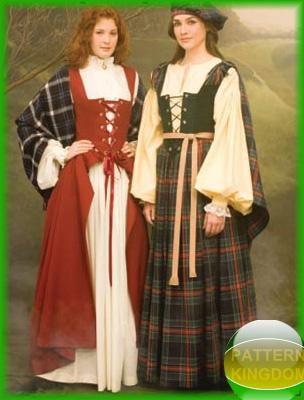 celtic irish scottish costume patterns costume patterns w full