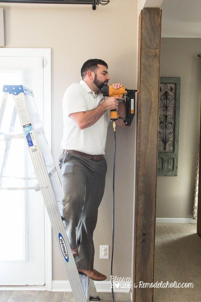 diy wood beam doorway 8 of 23 trim molding ceiling floors pinterest poutres. Black Bedroom Furniture Sets. Home Design Ideas