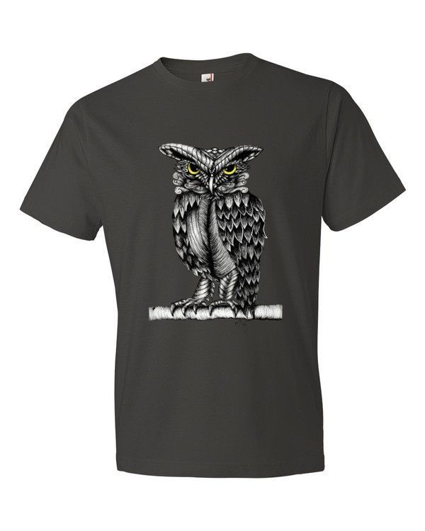 Short sleeve T-shirt with Mystical Owl print