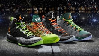 detailed pictures 50e9e d6432 Jordan Flight Before Christmas Pack featuring the Air Jordan 28, Melo M10,  CP3 7 and Super Fly 2