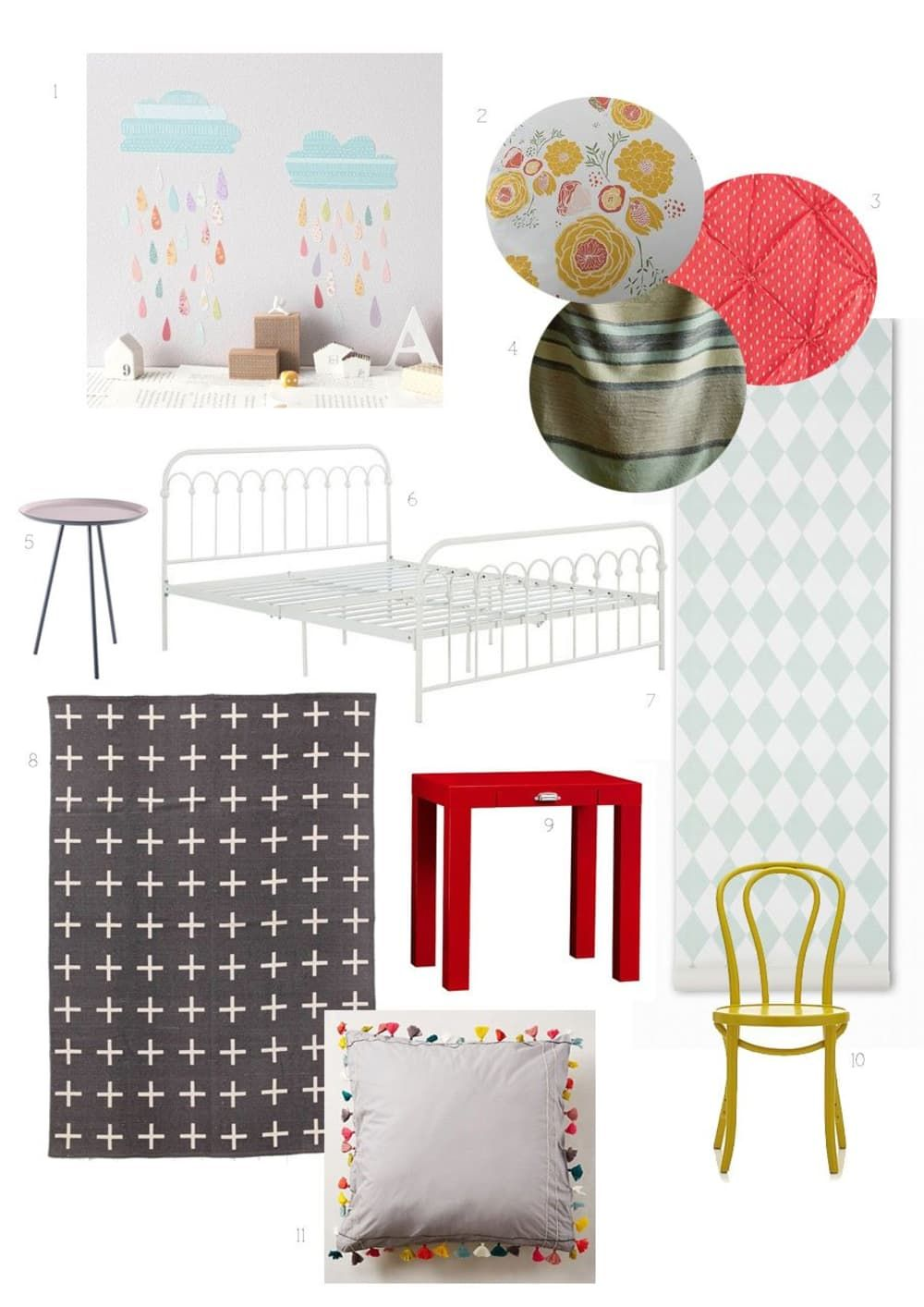 A Girl S Room In Mint Mustard Amp Coral Coral Girls