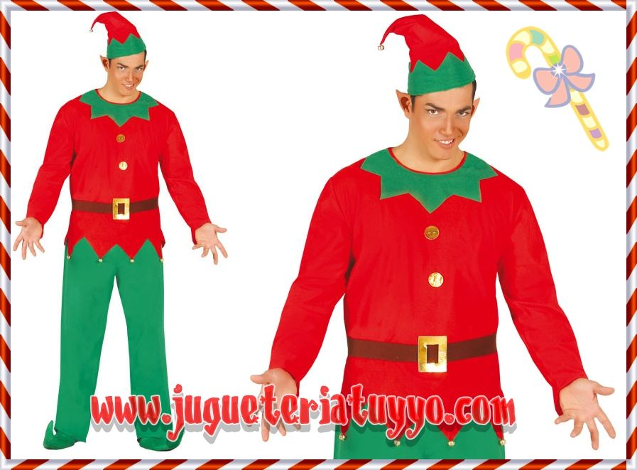 Comprar disfraz elfo granuja talla 52 54 a disfraces - Disfraces infantiles navidenos ...