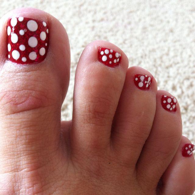 Minnie Mouse Design Pedicure Designs Pinterest Nails Nail Art
