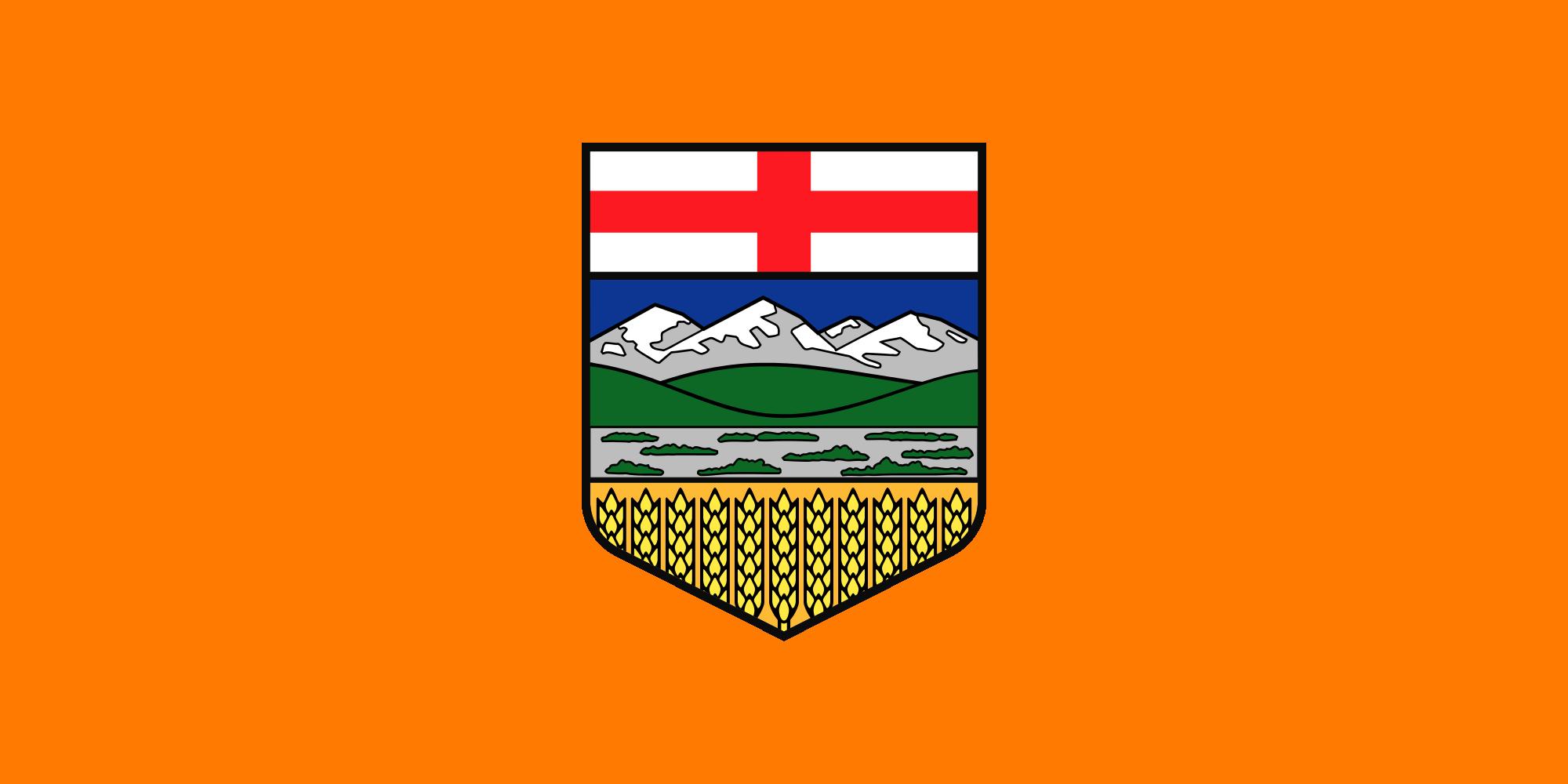 Alberta flag after an NDP orange crush! // ABleg ABvote