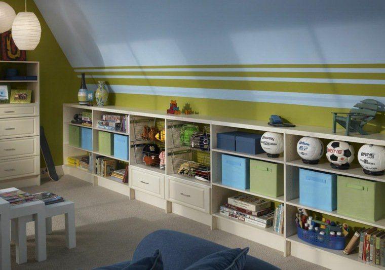 Rangement Salle De Jeux Enfant 50 Idees Astucieuses Remodel Bedroom Slanted Walls Home