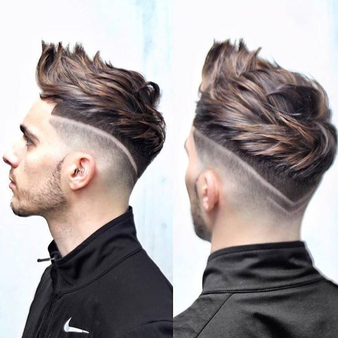 bff5357e3c5f Cabelo arrepiado com riscos #cabeloarrepiado #spikyhair ...