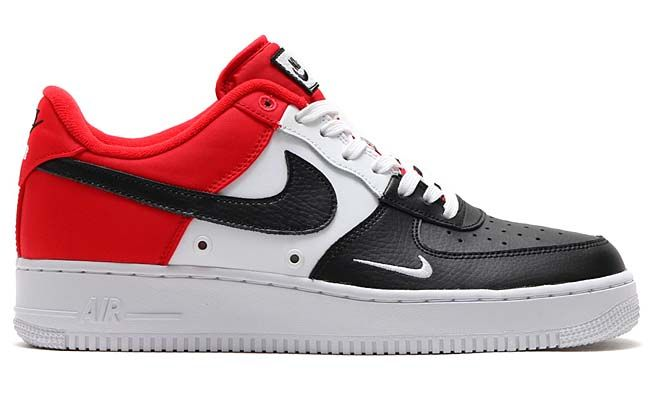 more photos e3772 e5fd0 NIKE AIR FORCE 1 07 LV8  UNIVERSITY RED   BLACK-WHITE-PURE PLATINUM   823511-603
