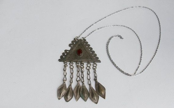 Turkoman  Triangle Necklace by BrianneCossette on Etsy, $60.00