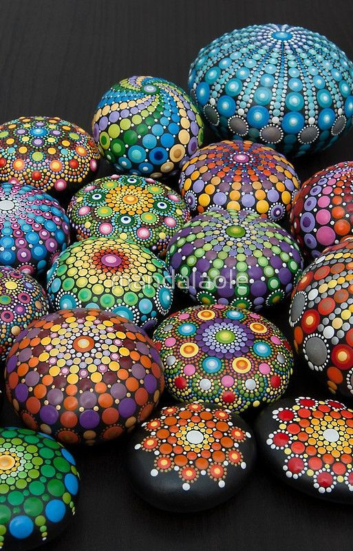 'Mandala Painted stones 2' iPhone Case by mandalaole