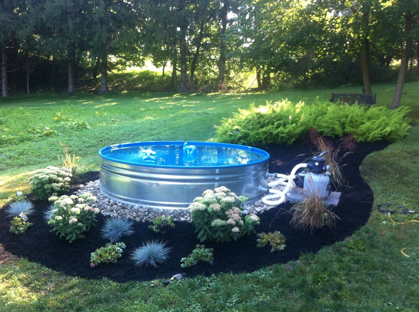 Galvanized steel stock tank mini pool | Galvanize steel ...