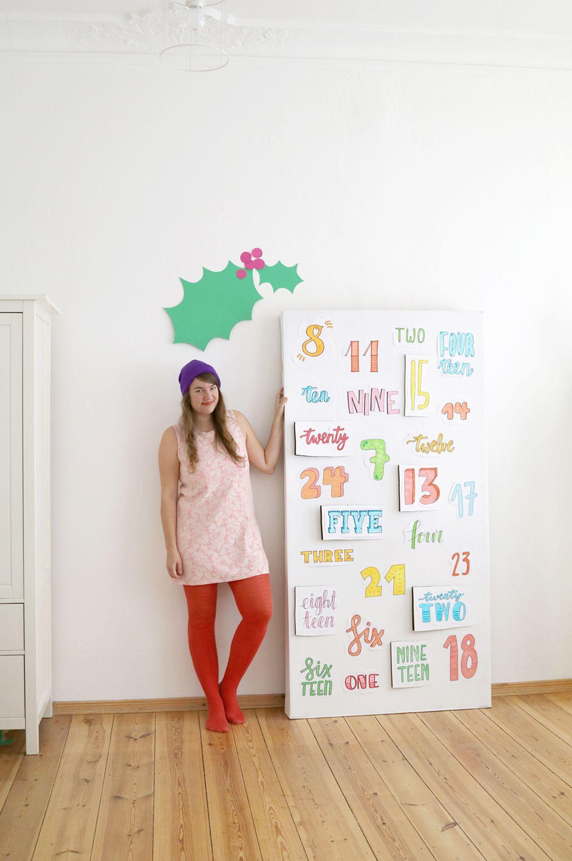 diy xxl handlettering advent calendar and colour happy