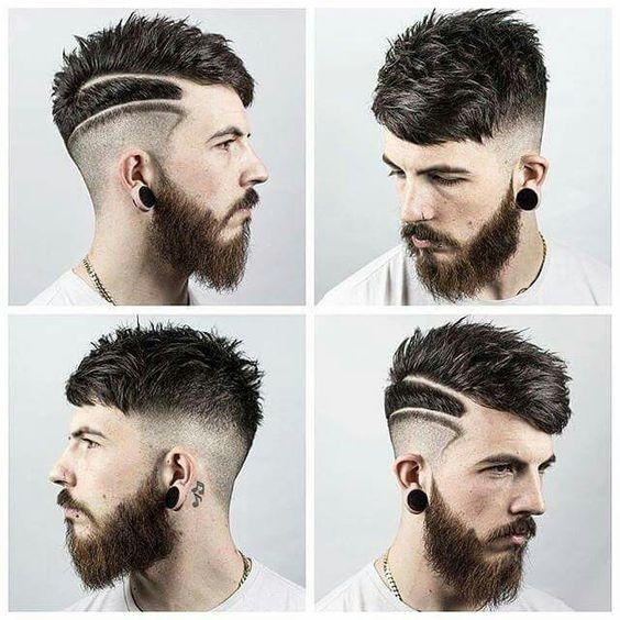 Peinados con lineas hombres