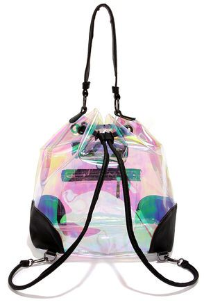 Aurora Borealis Clear Iridescent Backpack | Bucket bags, Backpacks ...