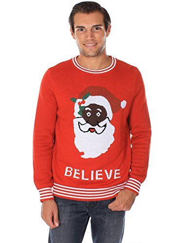 e0d0b7851cc Black Santa Ugly Christmas Sweater. Spread the joy with this one ...