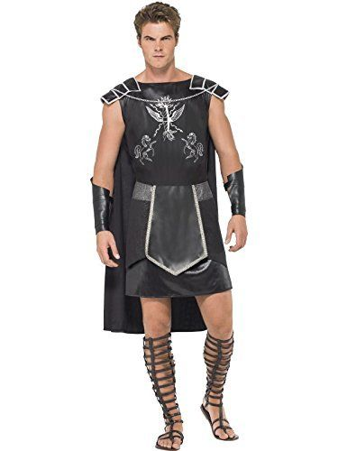 Fever Men S Male Dark Warrior Black Silver Medium Dance Costume