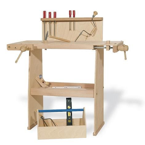 etabli en bois walter pour enfant sans accessoires cadeau pinterest tabli en bois. Black Bedroom Furniture Sets. Home Design Ideas