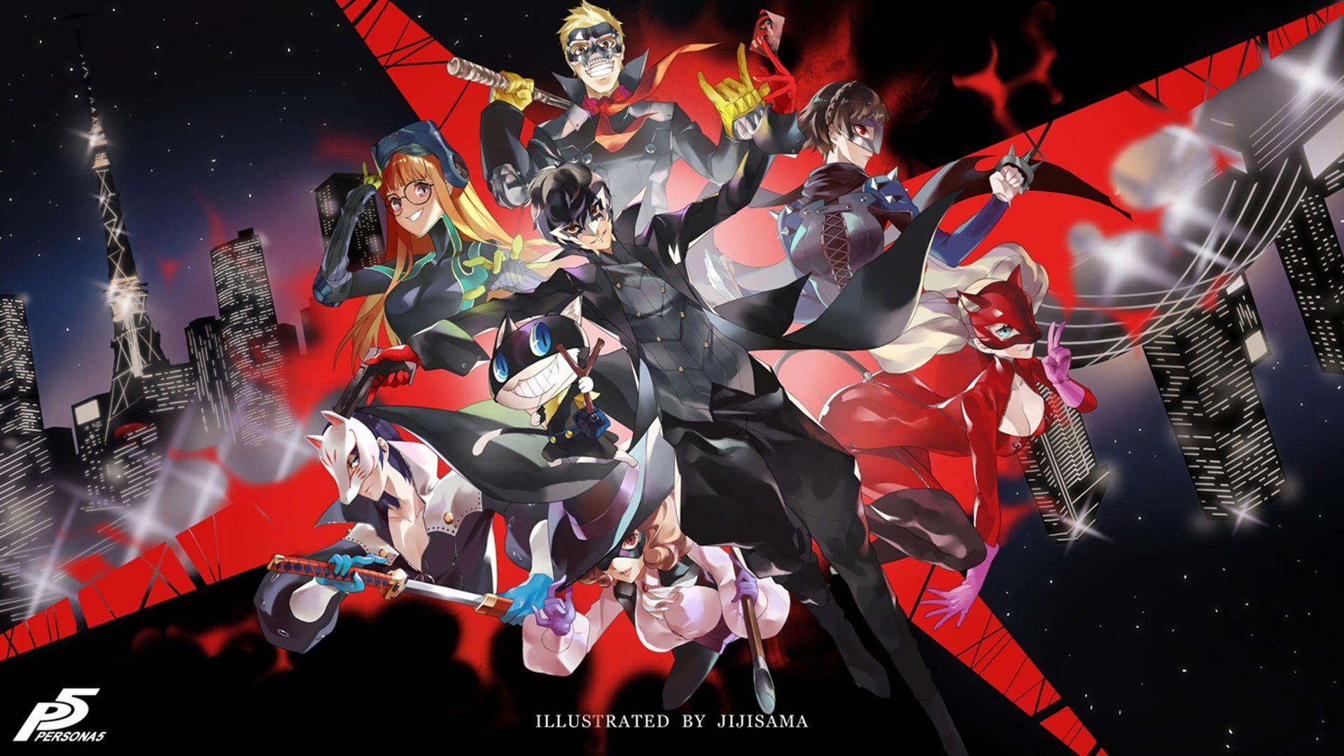 Persona Persona 5 Anime Ann Takamaki Futaba Sakura Haru Okumura Joker Persona Makoto Niijima Morgana Persona Ryuji Sakamoto Video Anime Persona 5 Persona