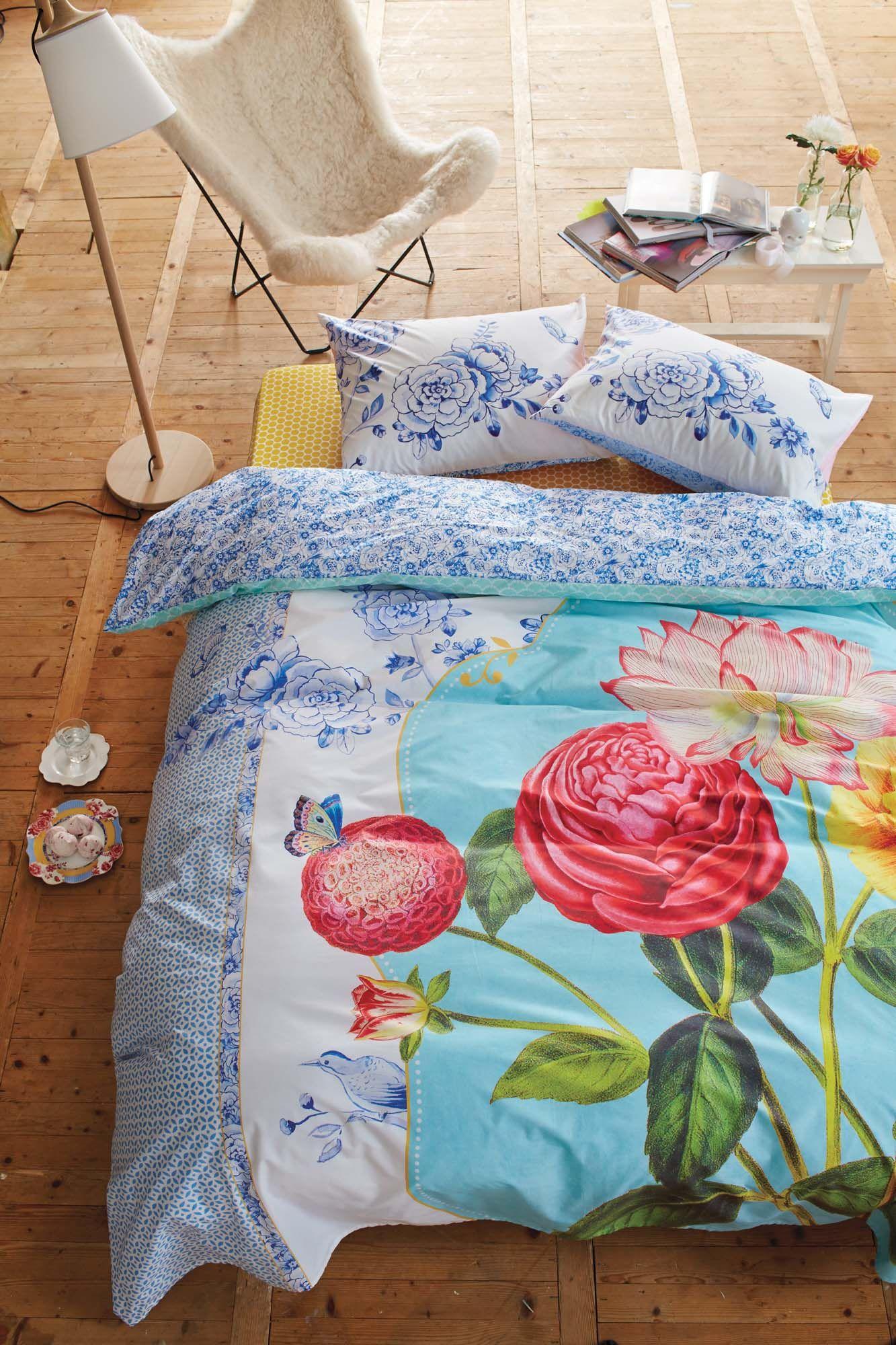 Linge de lit pip studio royal porcelaine multi housse for Drap et housse de couette
