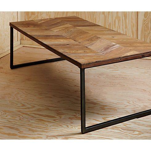 Superb Herringbone Coffee Table In View All New Cb2 399 Home Inzonedesignstudio Interior Chair Design Inzonedesignstudiocom