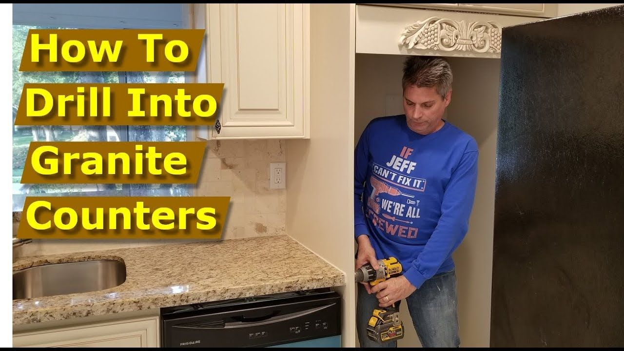 How To Drill Into Granite Countertops With Tapcon Screws In This