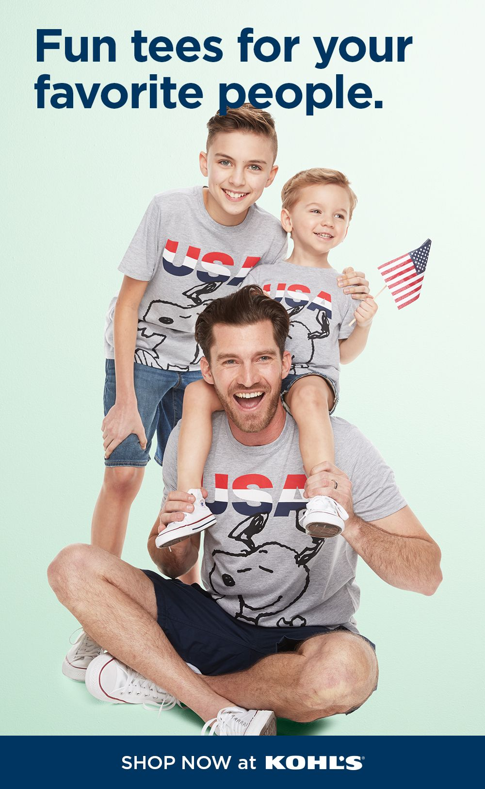 Find striped Snoopy Peanuts tees for the family at Kohl's