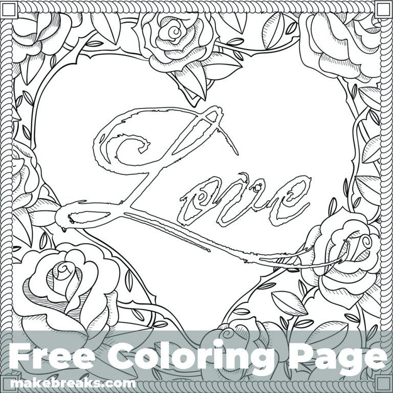 Love Frame Free Valentine S Day And Romantic Themed Coloring Page Make Breaks Love Coloring Pages Heart Coloring Pages Valentines Day Coloring Page