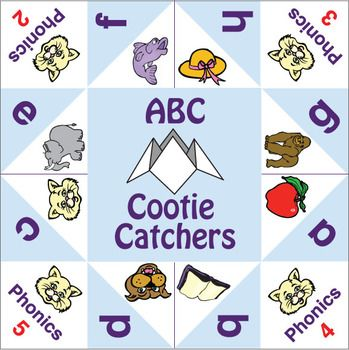 Cootie Catchers Abc Phonics Abc Phonics Esl Games Phonics Kindergarten esl phonics activities