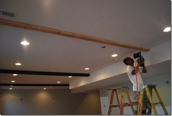 Best 25 faux beams ideas on pinterest fake wood beams for Adding wood beams to ceiling