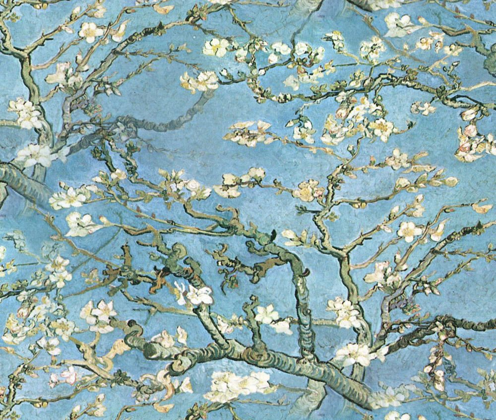 Van Gogh Almond Trees Branches Fabric Printed By Spoonflower BTY ...