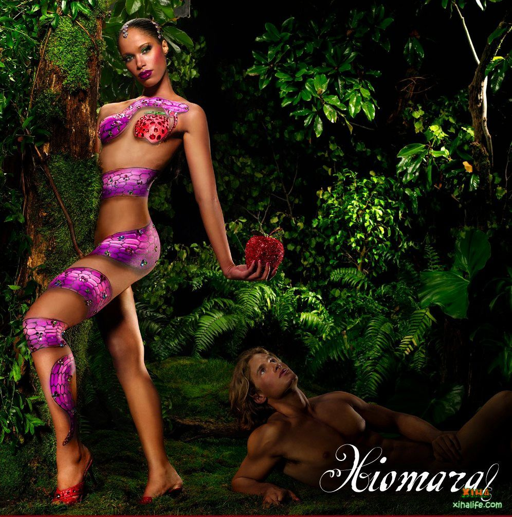 xiomara cycle 2 photo shoot 1 adam and eve with body