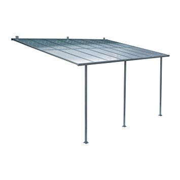 outsunny aluminum framed translucent patio cover 10 x 15 kit