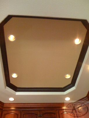 Kitchen Light Box Tray Ceilings W Inch Recessed Lights In The - Kitchen tray ceiling lighting