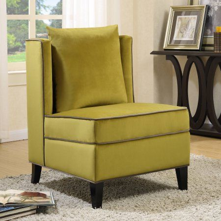 Fantastic Coaster Velvet Upholstered Accent Chair In Chartreuse And Machost Co Dining Chair Design Ideas Machostcouk