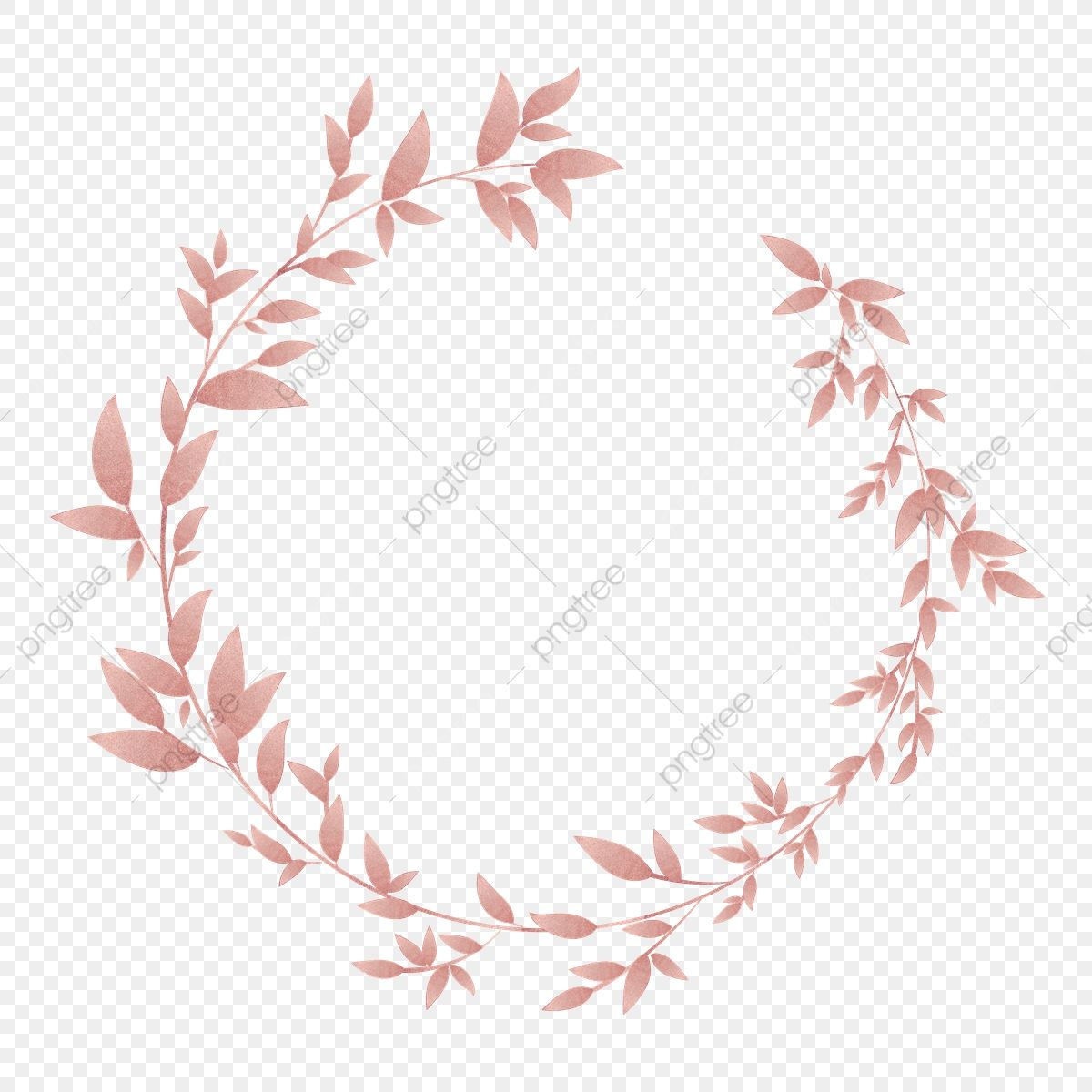 Pink Gold Floral Wreath Border Floral Clipart Luxurious Shading Png And Vector With Transparent Background For Free Download Floral Wreath Watercolor Painted Floral Wreath Pink Floral Background