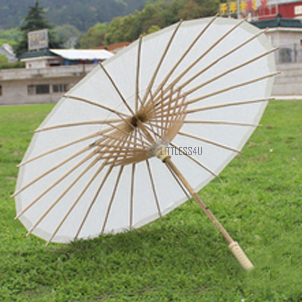 Chinese Paper Umbrella Parasol Brolly Dance Cosplay Craft Yellow ...