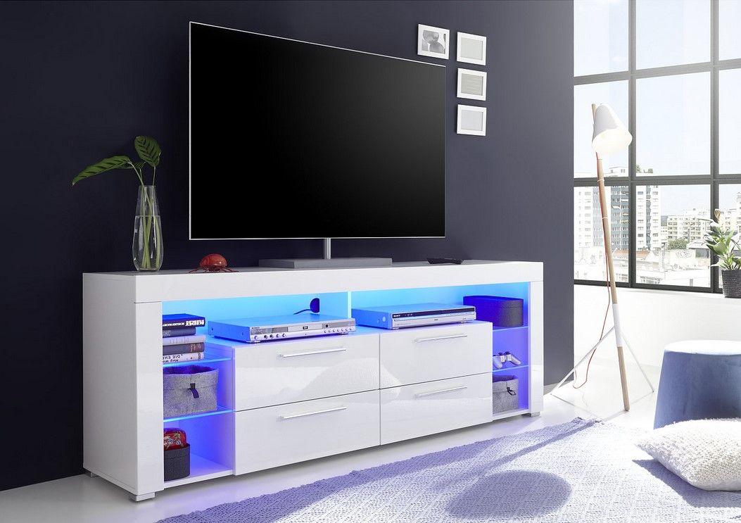 Meuble Tv Led Space Blanc Laque Pas Cher Meuble Tv But Iziva Com Meuble Tv Led Meuble Tv Meuble Tv Blanc