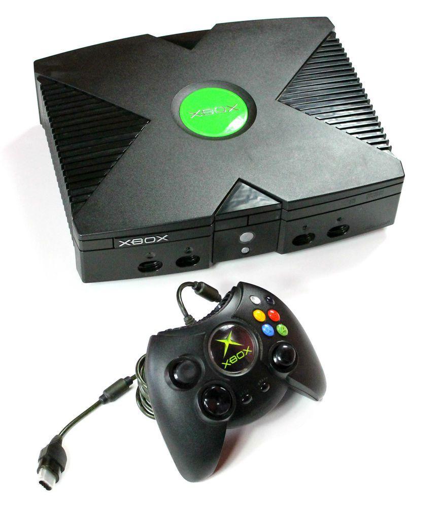Microsoft Xbox Konsole+Kabel+Xbox Original Controller+Spiel PES 5 in ...