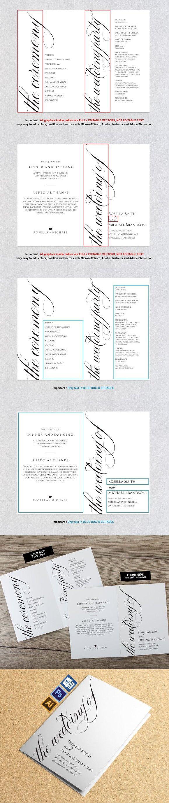 Ausgezeichnet Hochzeitsprogramm Vorlage Wort Zeitgenössisch ...