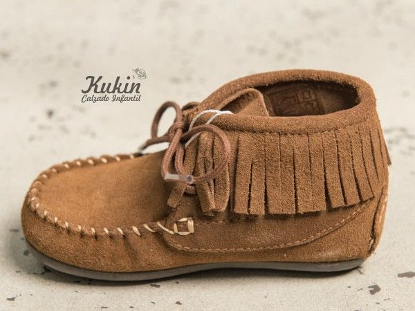 10ae5db19 calzado infantil online - botas niño - zapatería infantil - botas flecos  taupe - mohicanas niño