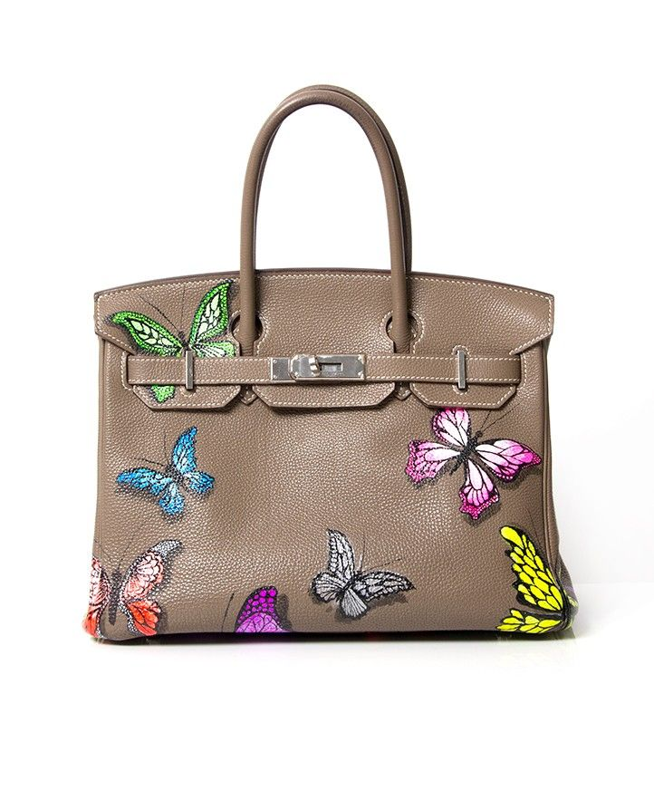 874f73b7feab Buy and Sell Authentic Luxury. Customized Hermes Hand-Painted Pop Art bag  at Labellov