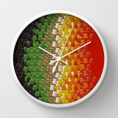 Candy+Tum+Tum+Wall+Clock+by+railcolor+-+$30.00